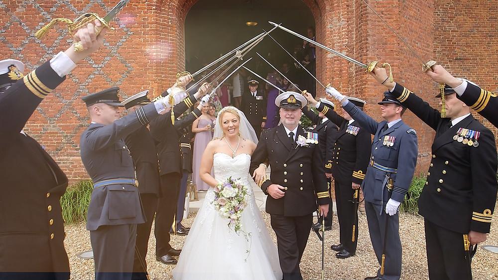 Military wedding at farnham castle