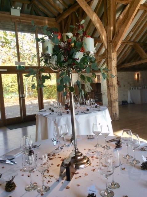 wedding flowers at bury court barn