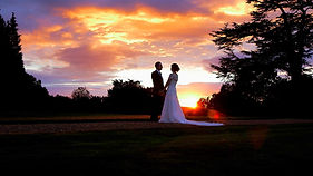 sunset at Berkshire wedding venues