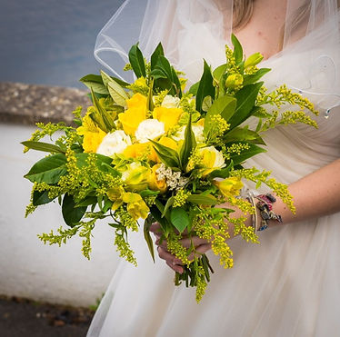 Angel weddng and event flowers display