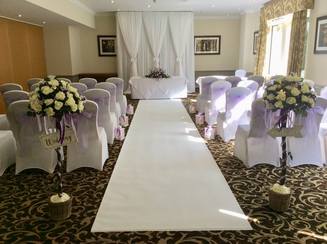 wedding flowers at frimley hall hotel