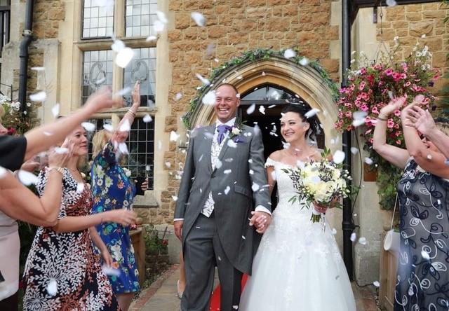wedding couple at farnham house hotel