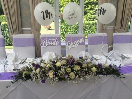 Wedding Flowers at Farham House Hotel