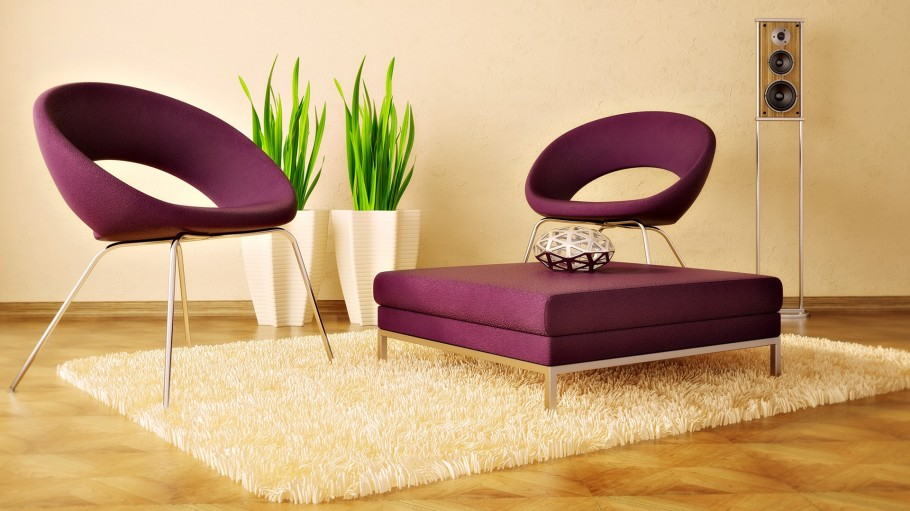 unique-purple-lounge-chairs-for-contemporary-living-room-design-made-of-fabric-within-a-metal-legs-a