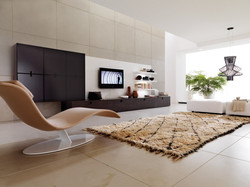unique-beige-lounge-chair-with-white-iron-round-based-legs-for-surprising-living-room-design-as-well