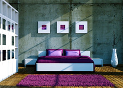 Wonderful-Bedroom-Interior-Design-with-White-Bed-and-Purple-Bedding-between-White-Nightstands-909x65