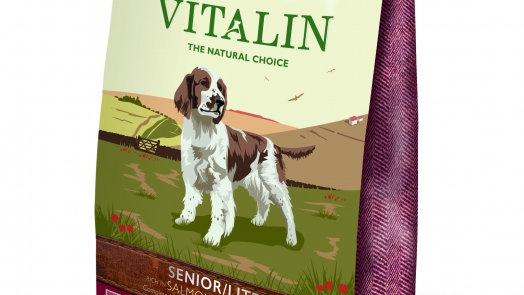 Vitalin Senior Lite (Light) Saumon chien croquettes sans céréales 12kg