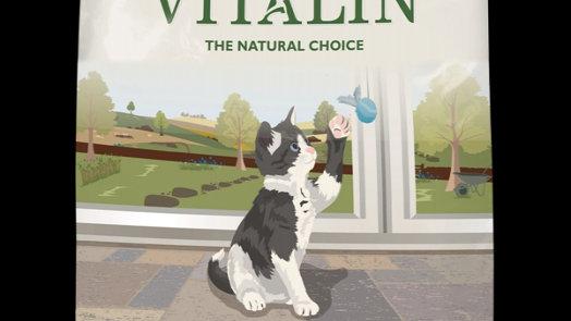 Vitalin croquettes naturelles pour chatons - 15kg