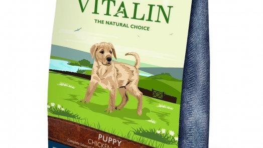 Vitalin Puppy Poulet et riz Croquettes pour chiots sans gluten 12kg