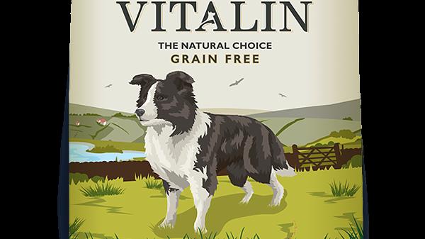 Vitalin - Croquettes naturelles pour chiens - 60% Poulet