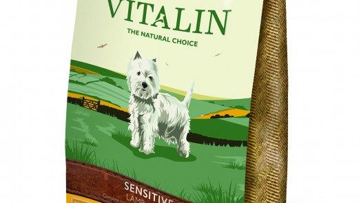 Vitalin Sensitive Agneau et riz chien croquettes sans gluten 12kg