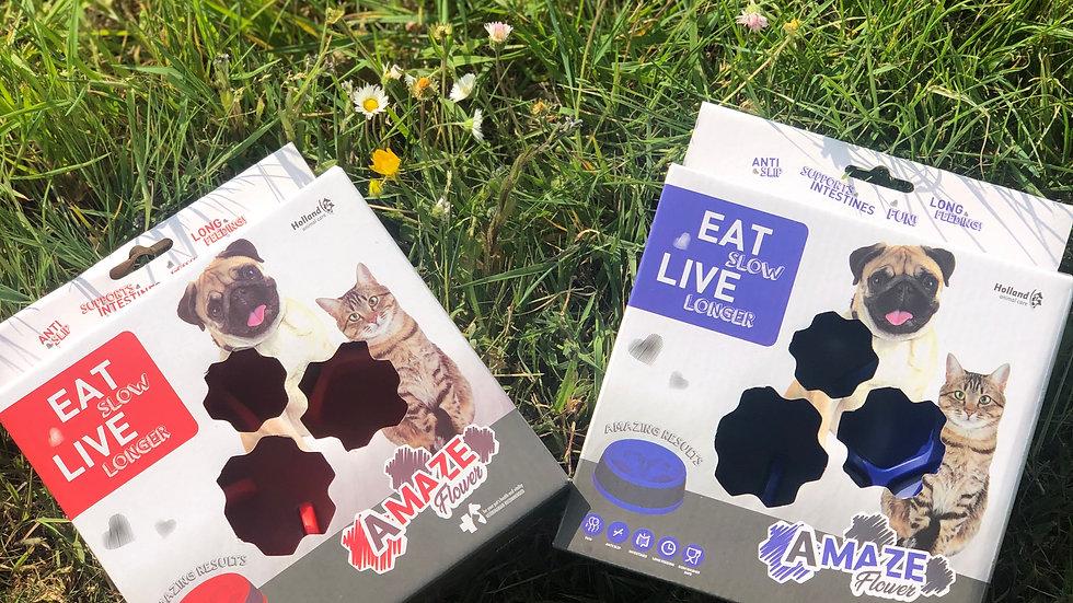 Gamelles anti-glouton pour petits chiens ou chats