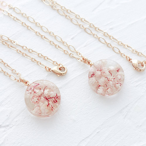 Rice flower necklace