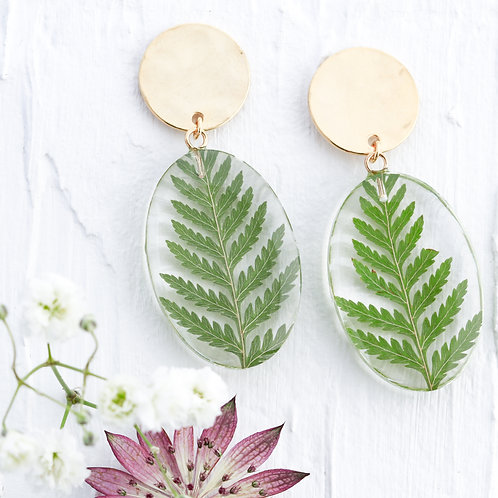 Fern dangle earrings