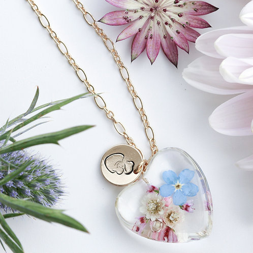 Beautiful chaos necklace ( brass plated )