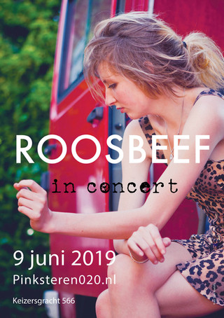 Abri poster 'Roosbeef in concert'