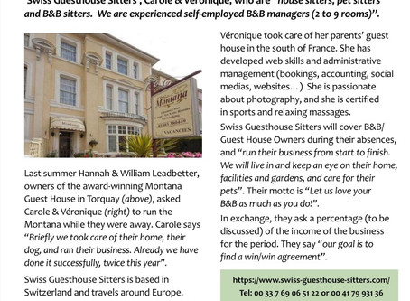 Covered by B&B Britain Association magazine