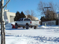 Plow Truck on Medical Sight