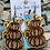 Thumbnail: Stacked PumpkinWood Earrings