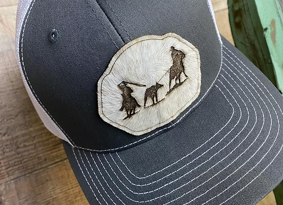 Cowhide Roping Leather Hide Richardson Snapback Hat