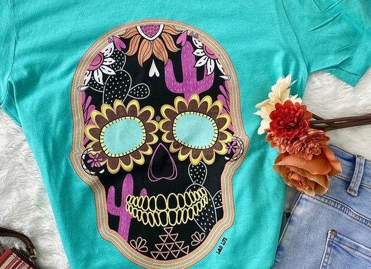 Cactus Sugar Skull  Graphic Tee