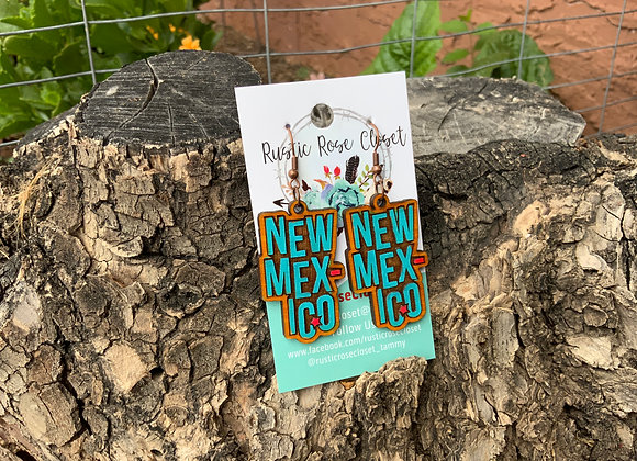 New Mexico Wood Earrings