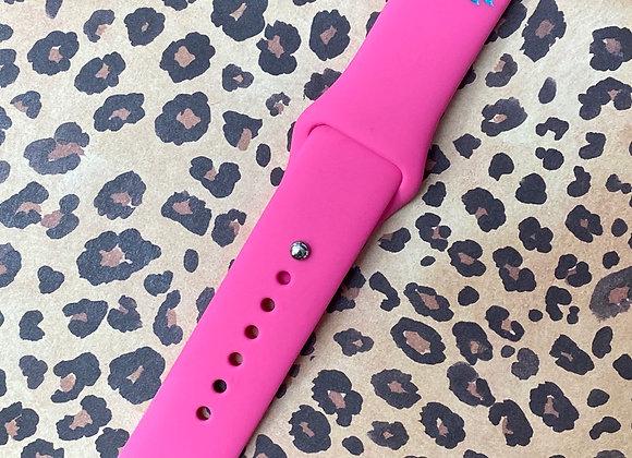 42/44 Boho Zia Engraved Apple Silicone Watchband