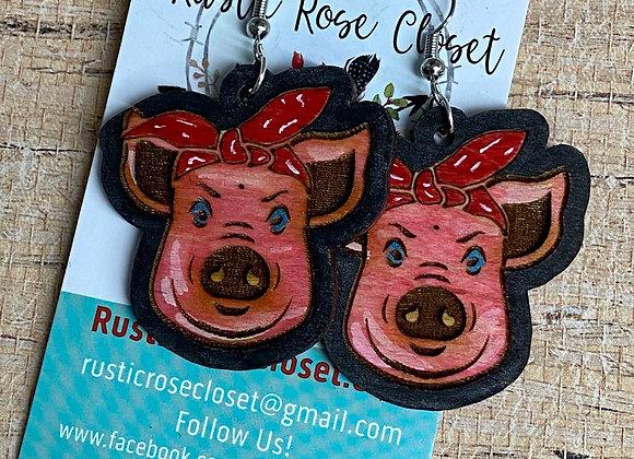 Cows 🐮 & Pigs 🐷 Wood Earrings