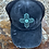 Thumbnail: Zia Teal Leather Patch Criss Cross Ponytail Vintage Hat