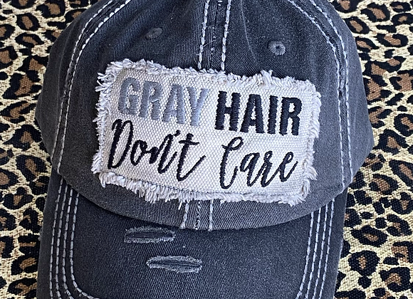 Gray Hair Don't Care Vintage Trucker Hat