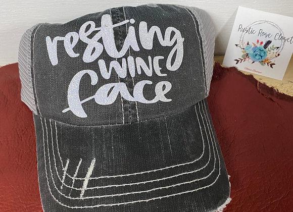 Resting Wine Face Baseball Hat