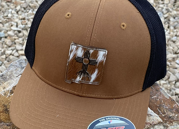 Cowhide Patch New Mexico Shape Zia Roots Fitted Richardson Hat