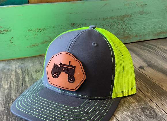 Tractor Leather Patch Richardson Snapback Hat