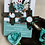 Thumbnail: Turquoise Leopard Wood Zia Earrings