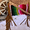 Thumbnail: American Farling Serape Tooled Leather Bag with Fringe