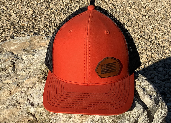 Leather Patch Ammo Flag Trucker Hat