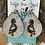 Thumbnail: Cowhide Teardrop Kokopelli Engraved Earrings