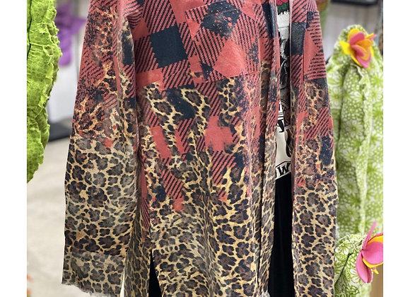 Buffalo Plaid Leopard Flannel