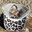 Thumbnail: Cowhide Zia Hair on Hide Patch Crisscross Leopard Ponytail Hat
