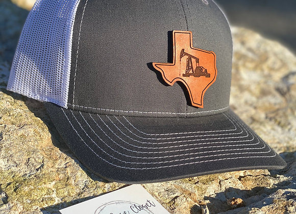 TEXAS Oil Field Richardson Leather Patch Hats