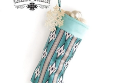 Aztec Teal Stocking