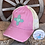 Thumbnail: Zia Heart Leather Patch Ponytail Crisscross Messybun Ponytail Hat