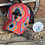Thumbnail: Aztec Print Crisscross Ponytail Messybun Hat with Cowhide Zia Patch