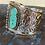 Thumbnail: Turquoise Stone Cuff Braceket & Turquoise Stone Ring