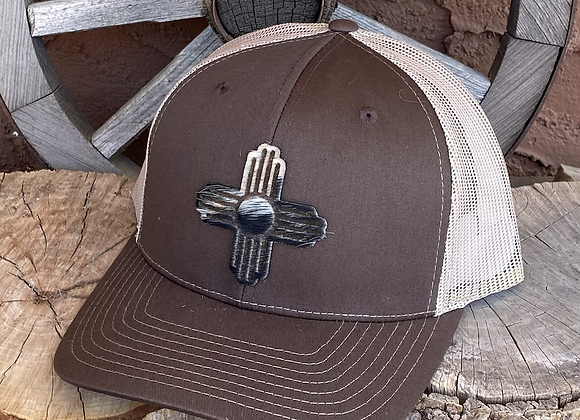 Richardson Trucker 112 SnapBack Hats with Leather or Cowhide Patch