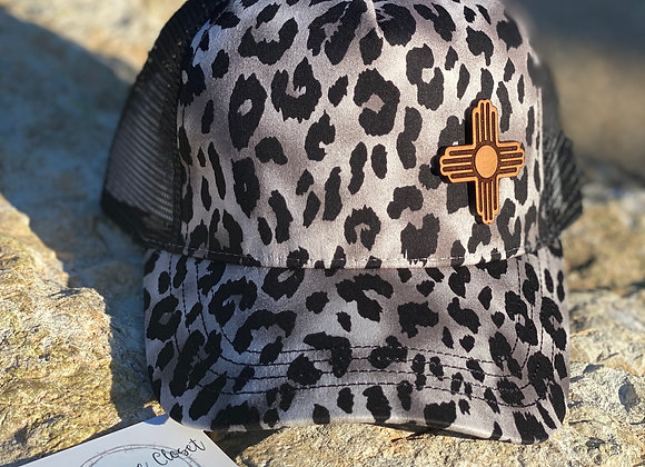 Leopard Hats with Leather Zia Patches