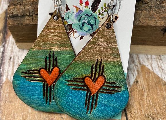 Zia Heart Tricolor Teardrops