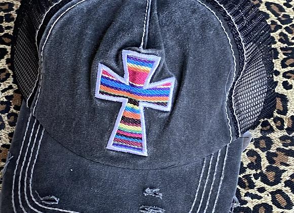 Serape Cross Vintage Hat