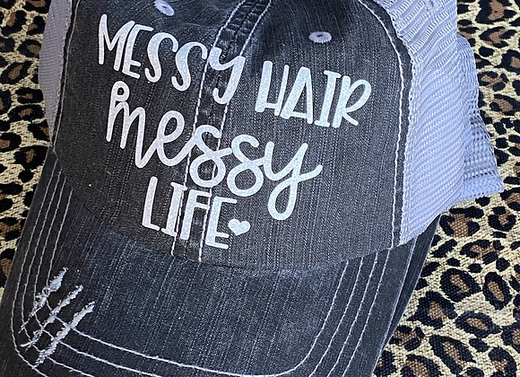 Messy Hair Messy Life Vintage Hat