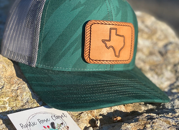 Texas Leather Patches on Richardson Snapback Hats